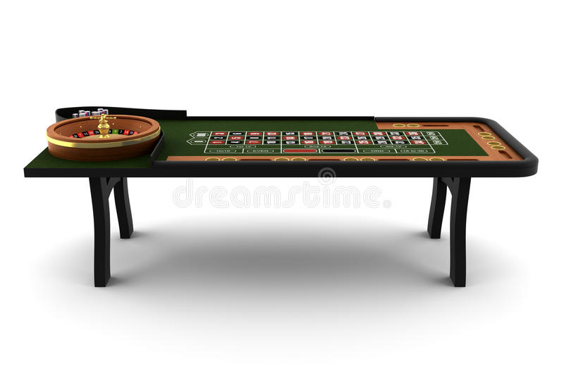 Table de roulette d'isolement sur le blanc illustration de vecteur
