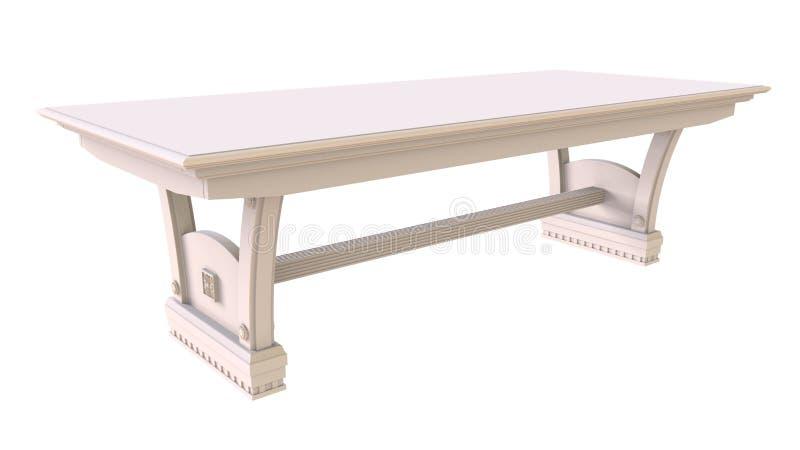Table de salle à manger blanche illustration libre de droits