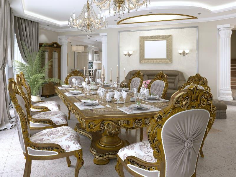 Intérieur Baroque Classique Luxueux De Salon Illustration ...