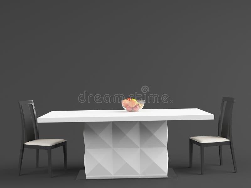 Table de salle à manger 02 d'†d'ALANNAH « illustration de vecteur