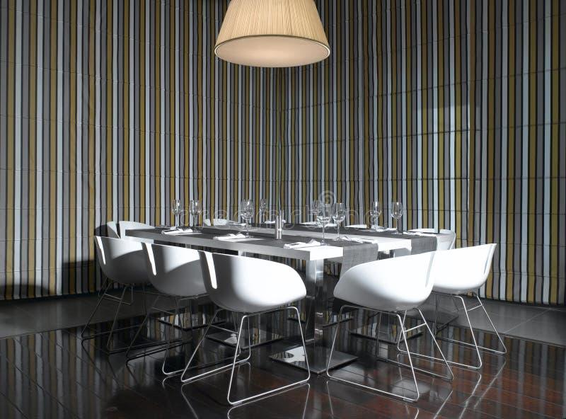 Table de salle à manger exclusive images libres de droits