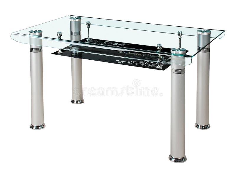 Table de salle à manger supérieure en verre moderne photo libre de droits