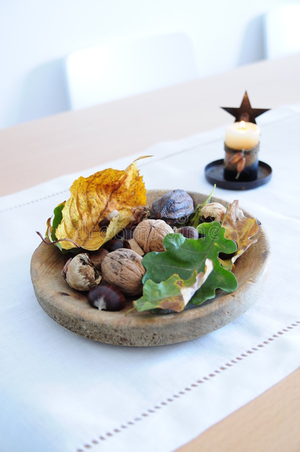 Table decoration. Still life or table autumnal decoration for Thanksgiving stock photography