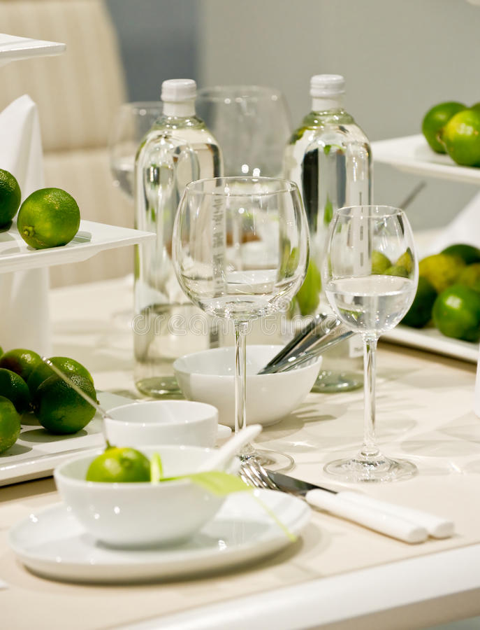 Download Table decoration with lime stock image. Image of tableware - 15964431