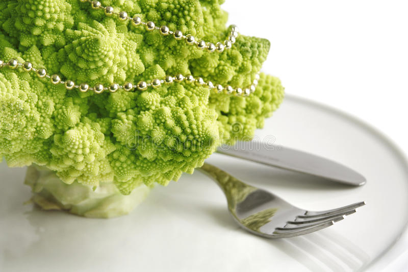 Table Decoration With Romanesco Stock Images
