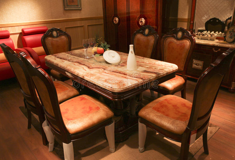 Table dinante images stock