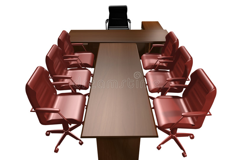 Table of the director vector illustration
