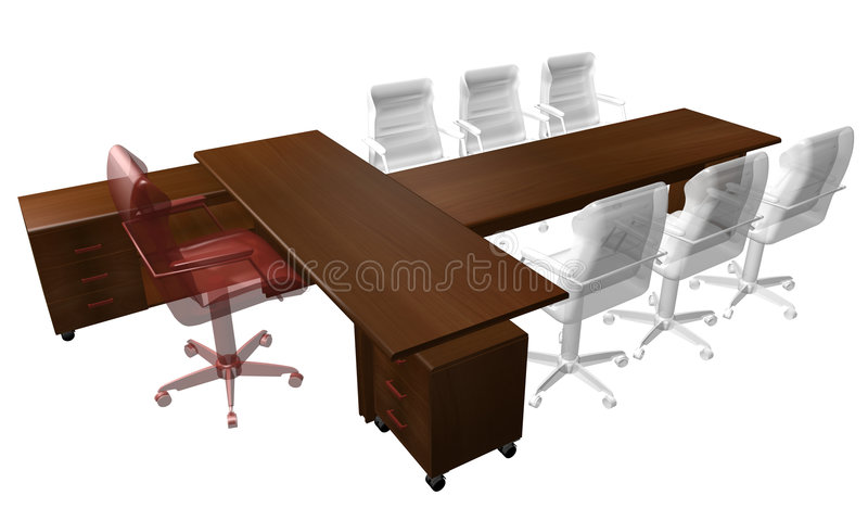 Table of the director royalty free illustration