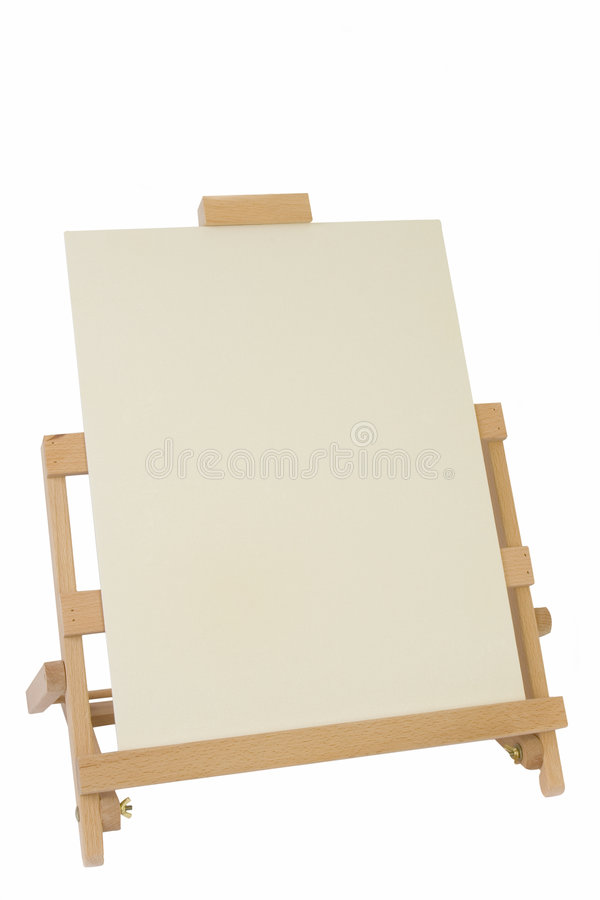 Table Easel and Canvas royalty free stock images