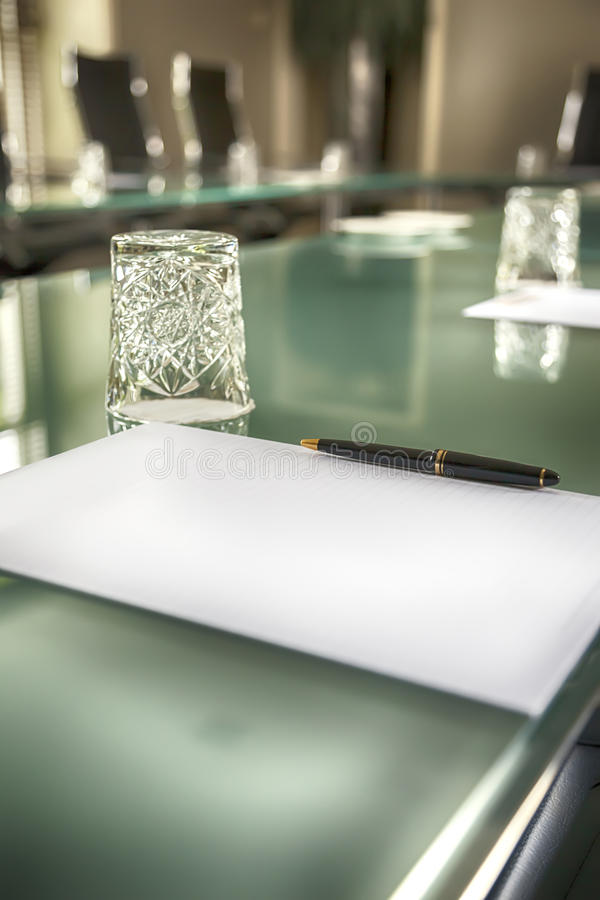 Download Table in empty office stock photo. Image of notebook - 33475146