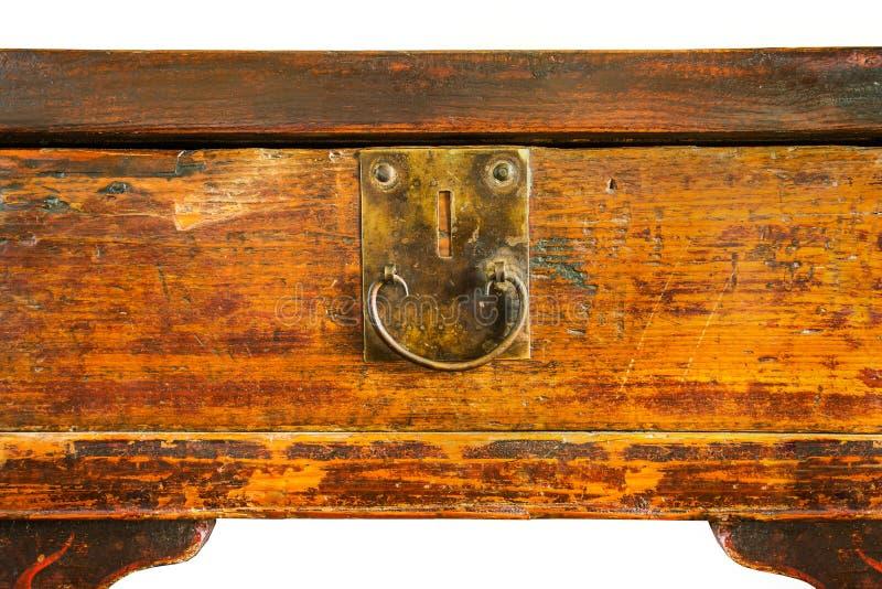 Table en bois antique image libre de droits
