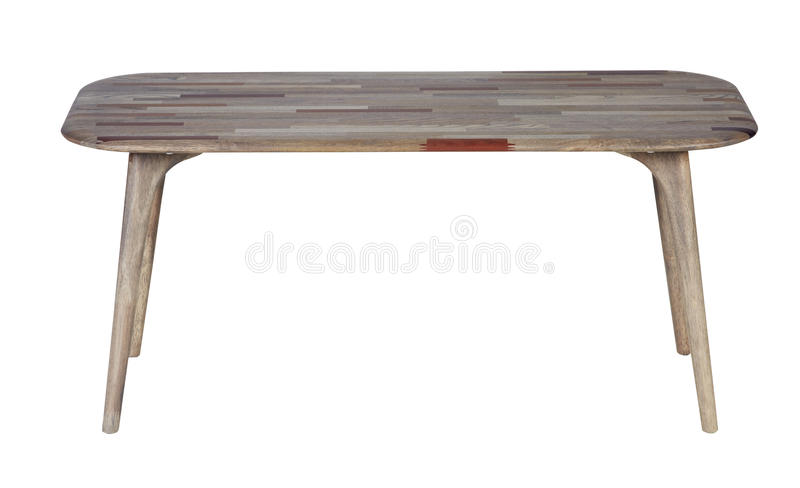 Table en bois d'isolement photographie stock libre de droits