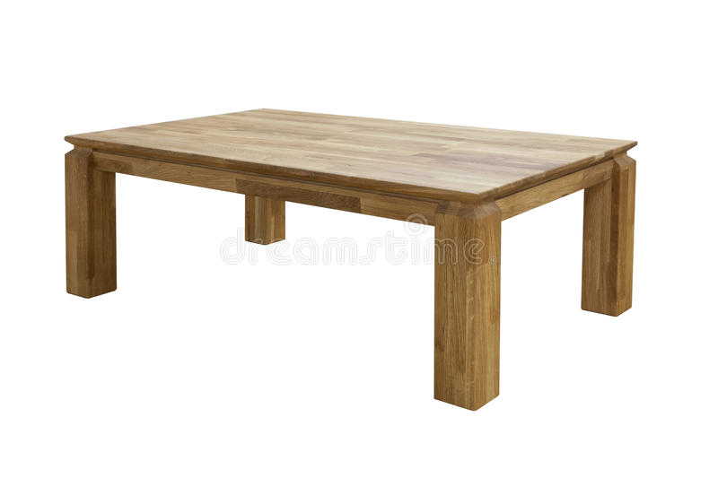 Table en bois d'isolement photos libres de droits