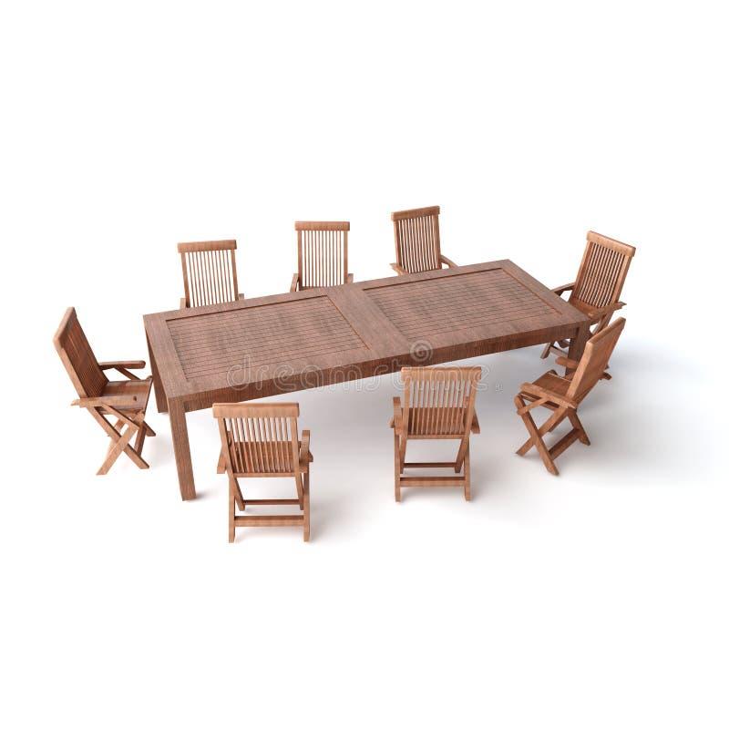 TABLE en bois d'isolement illustration libre de droits