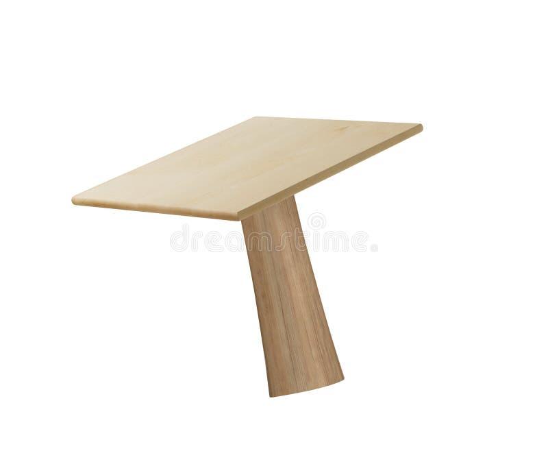 Table en bois d'isolement sur le blanc images libres de droits