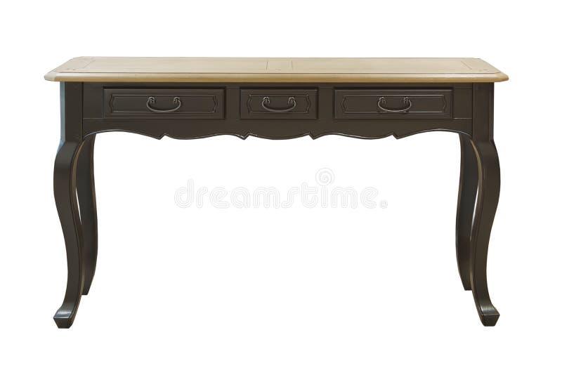 Table en bois dure de vintage avec le tiroir images stock
