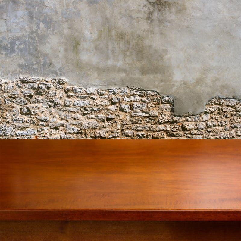 Table en bois vide photographie stock libre de droits
