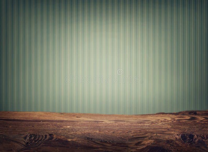 Table en bois vide de plate-forme photographie stock