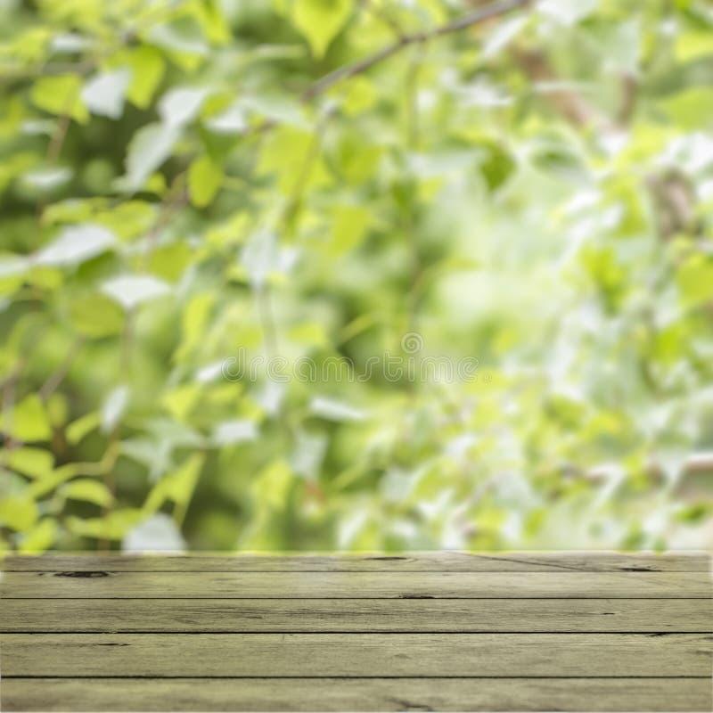 Table en bois vide de plate-forme image libre de droits