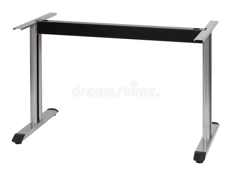 Table en métal avec de l'argent de deux jambes photo stock