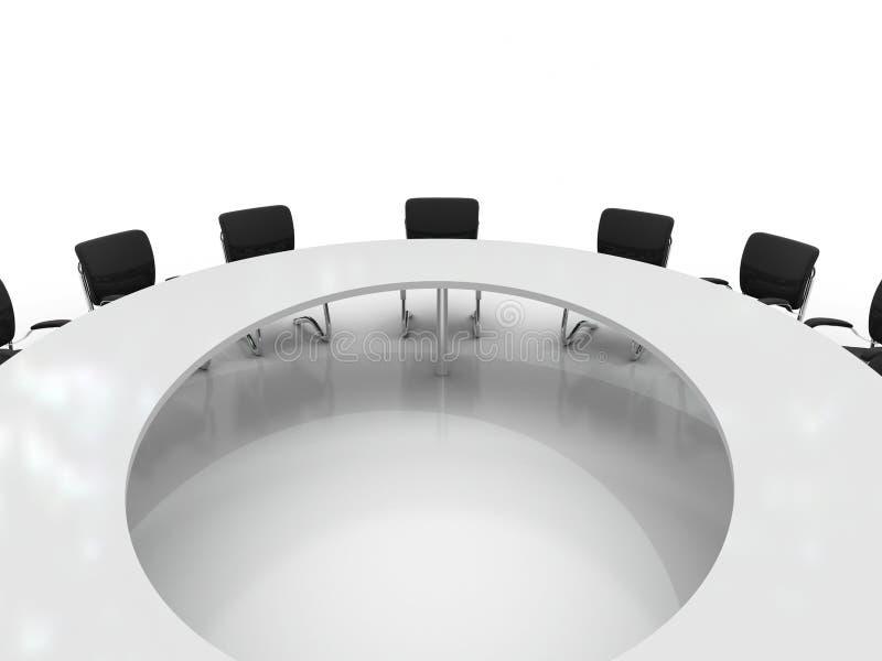Table et présidences de conférence illustration stock