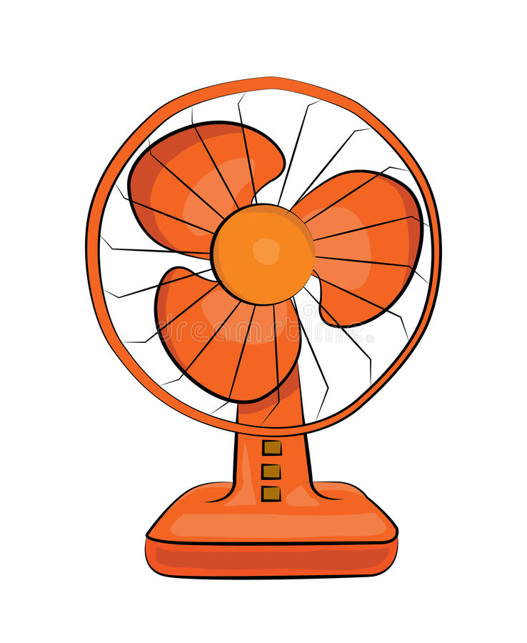 Table fan cartoon. Vector illustration of table fan cartoon vector illustration