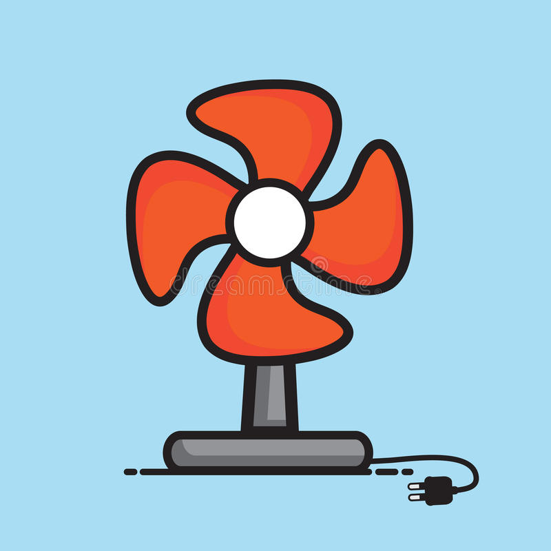 Table fan vector illustration