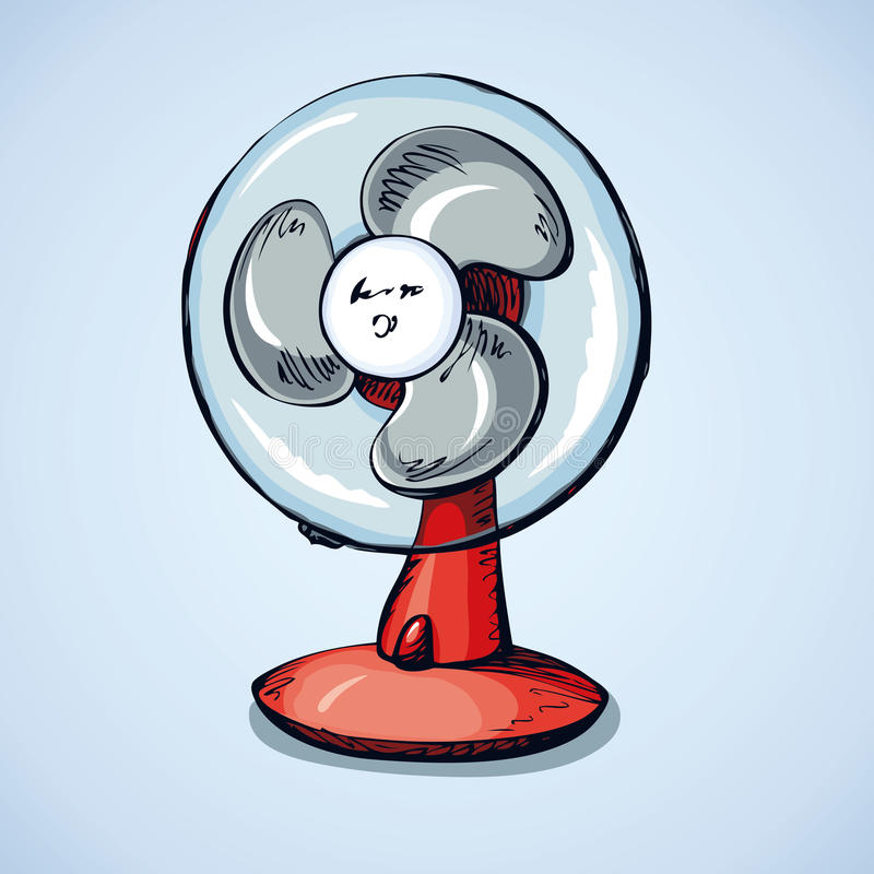 Table fan. Vector drawing royalty free illustration
