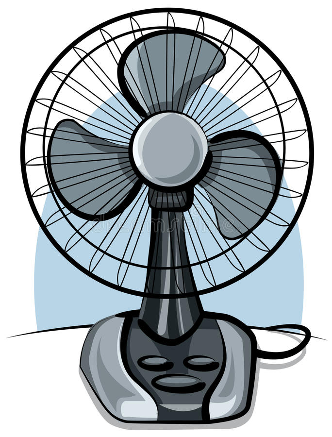 Table fan ventilator vector illustration