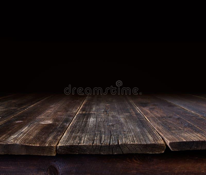 Table foncée photo stock
