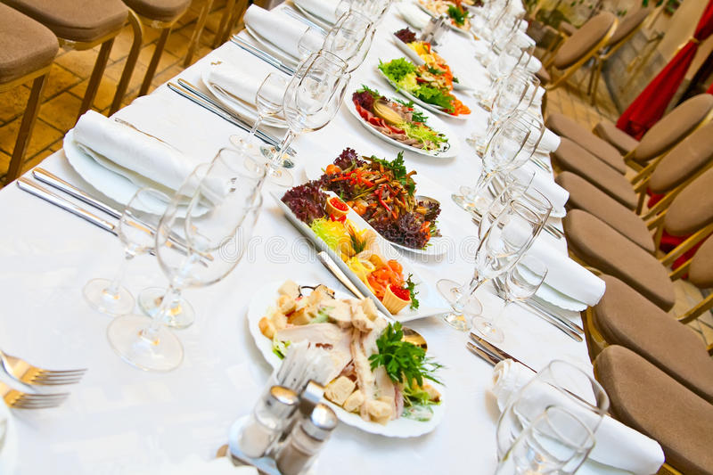 Download Table With Food. Stock Photography - Image: 15058912