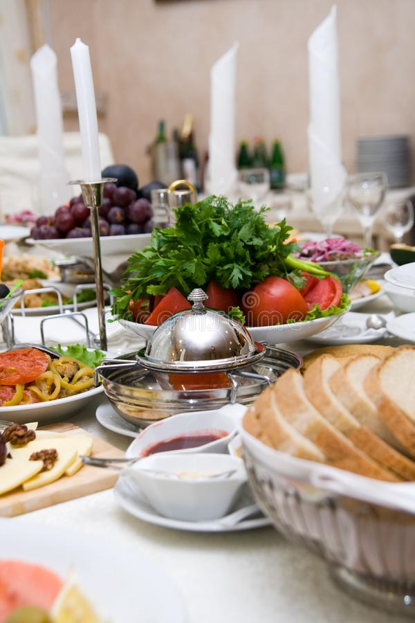 Table With Food Free Stock Images