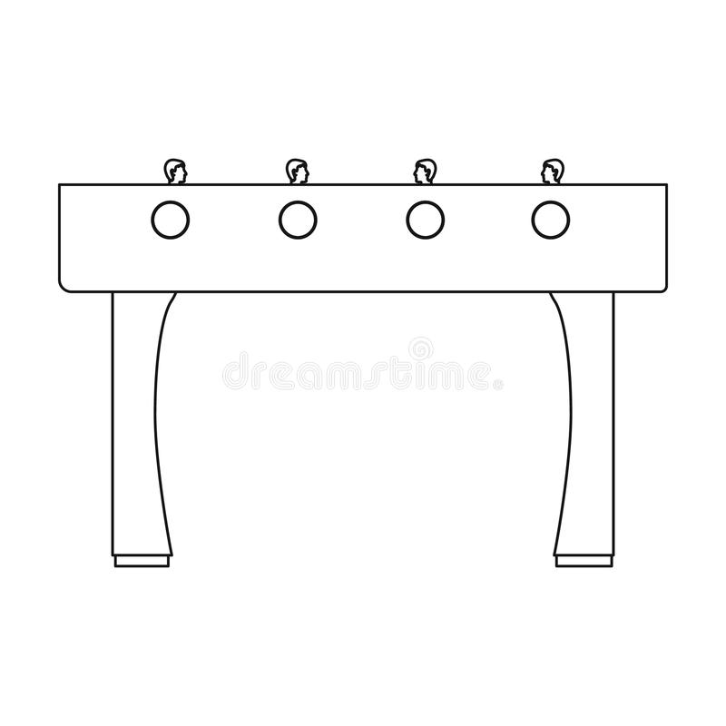 Table football icon in outline style isolated on white background. Board games symbol stock vector illustration. Table football icon in outline style isolated vector illustration