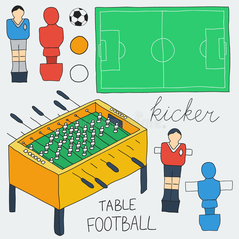 Download Table Football Icons Set. Vector Illustration Stock Vector - Illustration of sketch vector  sc 1 st  Dreamstime.com & Table Football Icons Set. Vector Illustration Stock Vector ...