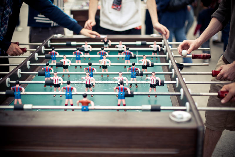 Table football players royalty free stock photography