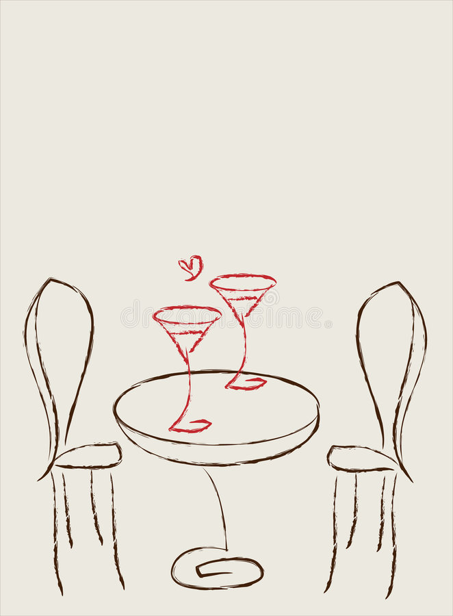 Free Table For Two Royalty Free Stock Photo - 7601005