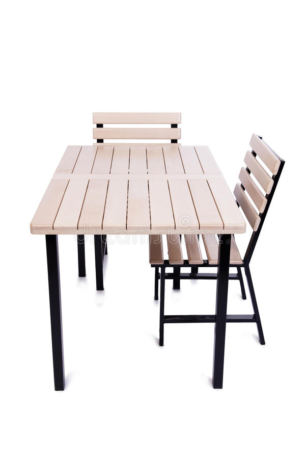 The table furniture isolated on the white royalty free stock images