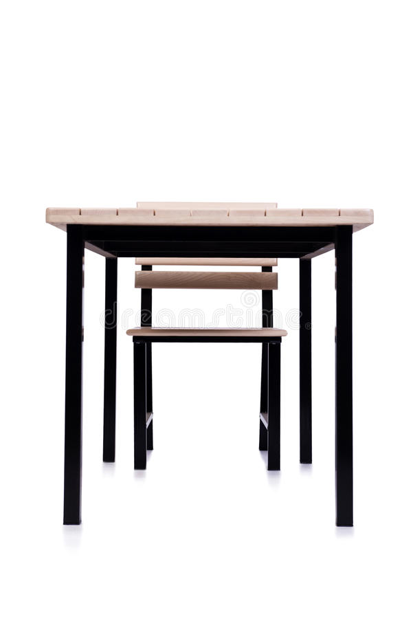 The table furniture isolated on the white stock images