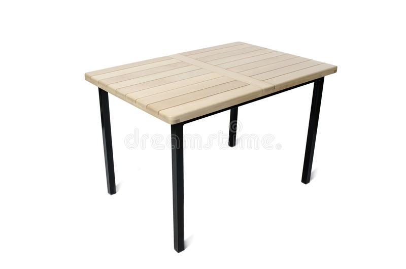 The table furniture isolated on the white royalty free stock photography