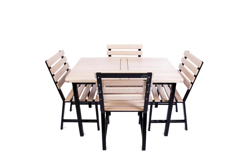 The table furniture isolated on the white royalty free stock image