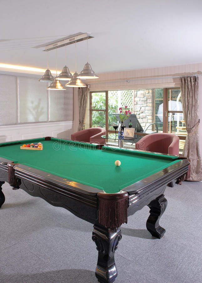 Download Table For Game In Billiards Stock Image - Image of interior, activities: 19958439