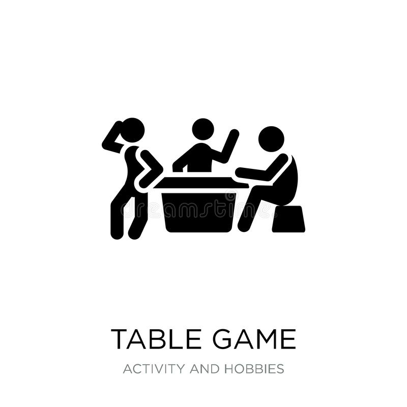 Table game icon in trendy design style. table game icon isolated on white background. table game vector icon simple and modern. Flat symbol for web site, mobile stock illustration