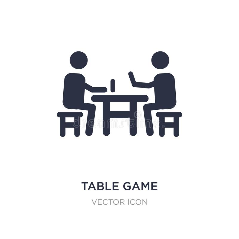 Table game icon on white background. Simple element illustration from Activity and hobbies concept. Table game sign icon symbol design stock illustration