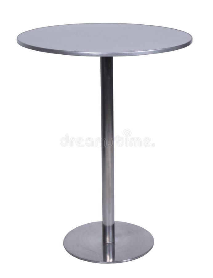 Table, glass, table-top, furniture, comfort. Isolate metal royalty free stock images