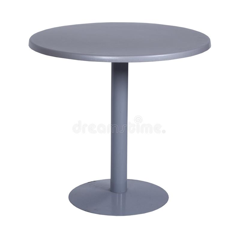 Table, glass, table-top, furniture, comfort. Isolate metal stock photos