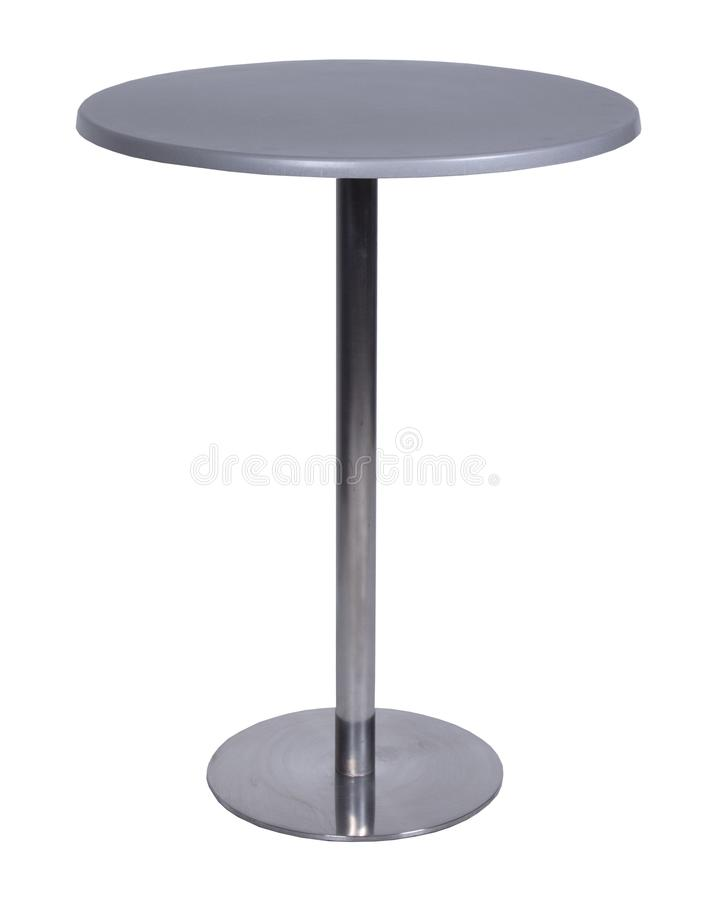 Table, glass, table-top, furniture, comfort. Isolate metal stock images