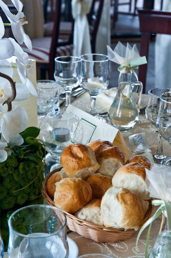 Download Table With Glasses On A Wedding Event Stock Image - Image: 15094605