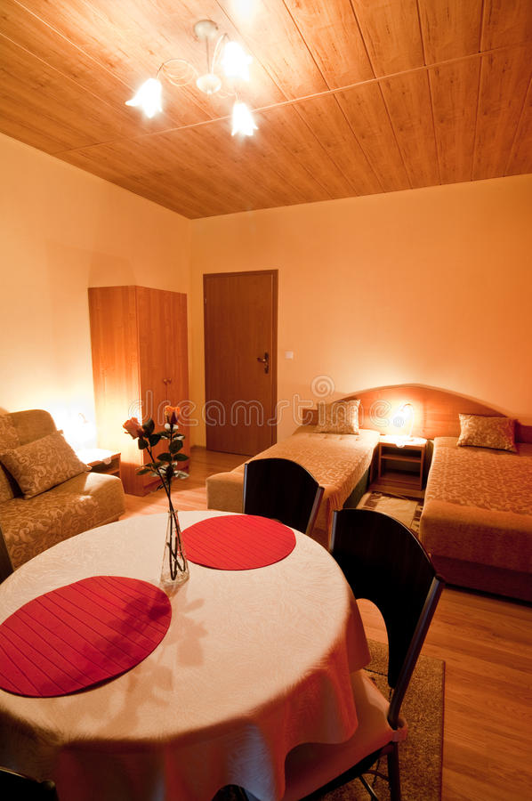 Download Table in hotel bedroom stock image. Image of indoors - 27784531