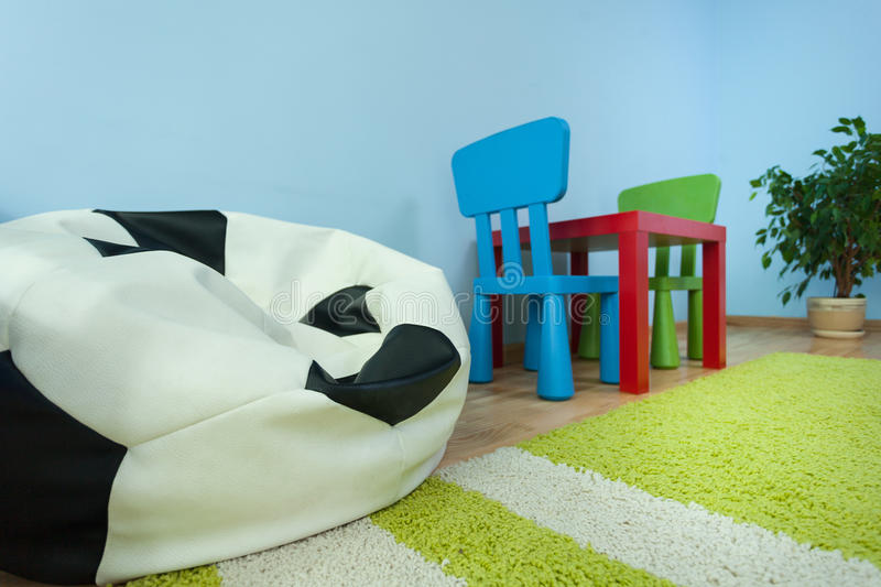 Table in kids room royalty free stock photos