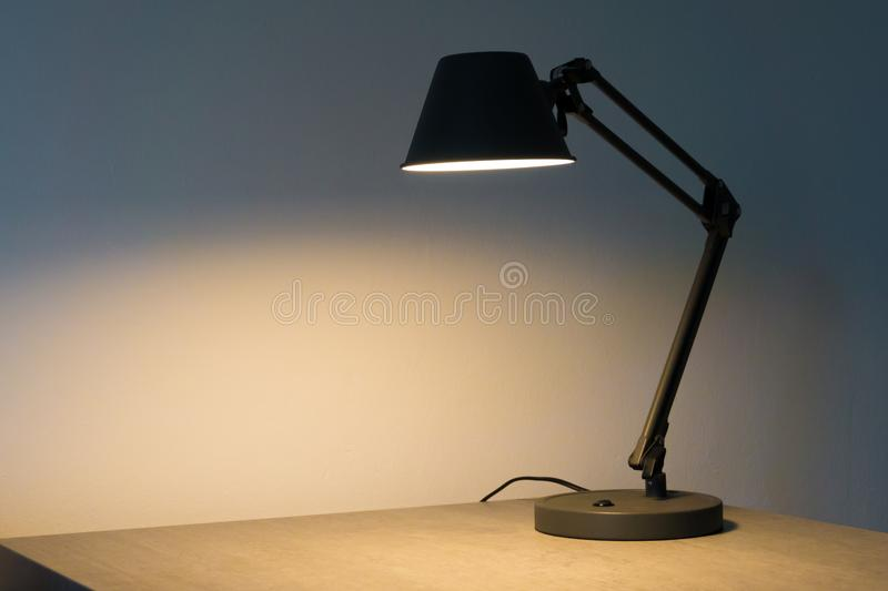 A table lamp. Is on the table royalty free stock images